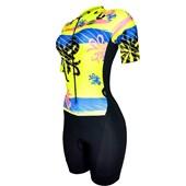 Macaquinho Ciclismo Feminino Barbedo Spring Preto Neon