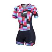 Macaquinho Ciclismo Feminino Marcio May Slim Fit Colorfull Geometric