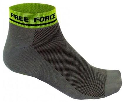 Meia Ciclismo Free Force Brief Cinza Neon