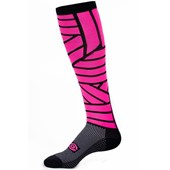 Meia Ciclismo Marcio May Funny Cano Alto Pink Lines