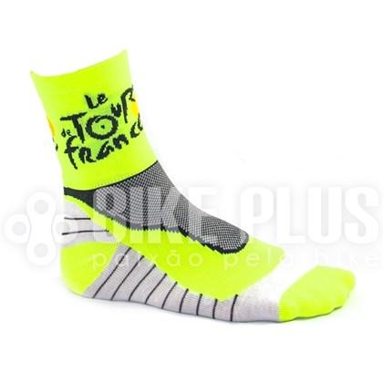 Meia Ciclismo Tour de France Neon