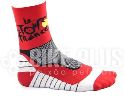 Meia Ciclismo Tour de France Vermelha