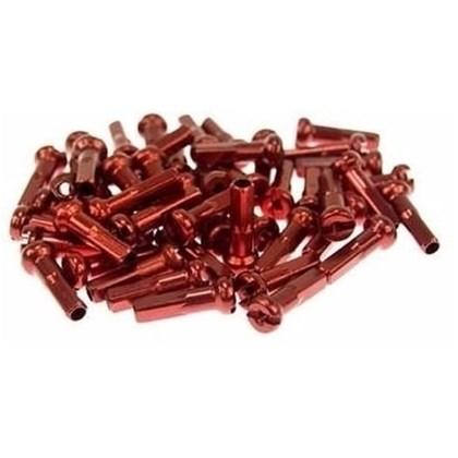 Niples 2.0 x 16mm em Alumínio Vermelho