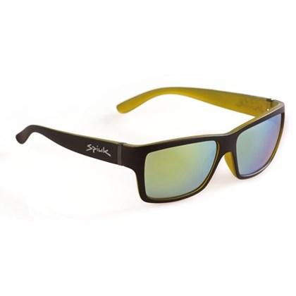 Óculos Casual Spiuk Halley Lente Amarelo Espelhado Armação Preto e Amarelo