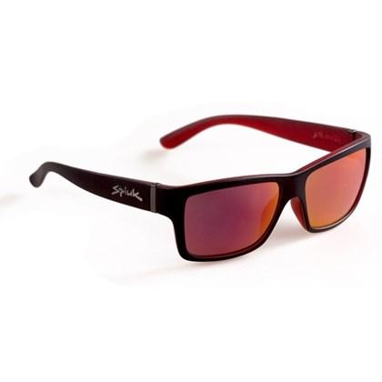 Óculos Casual Spiuk Halley Lente Vermelho Espelhado Armação Preto e Vermelho