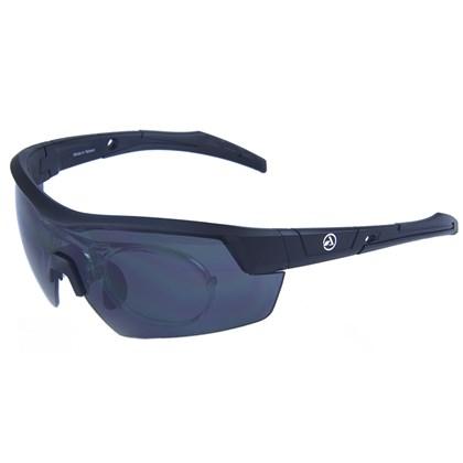 Óculos Ciclismo Absolute Race RX Preto Lente Fume Com Clip para Grau