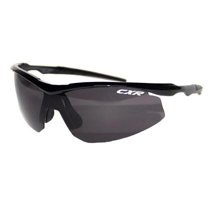 Óculos Ciclismo CXR 6039 Preto Lentes Fume Transparente e Amarela
