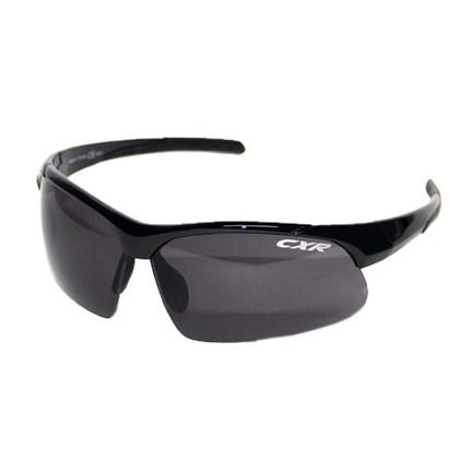Óculos Ciclismo CXR 6089 Preto Lentes Fume Transparente e Amarela