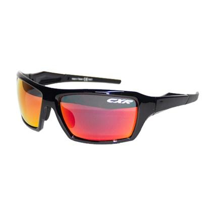 Óculos Ciclismo CXR 6123 Preto Lentes Espelhada Transparente e Amarela