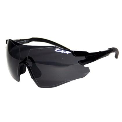 Óculos Ciclismo CXR 9495 Preto Lentes Fume Transparente e Amarela