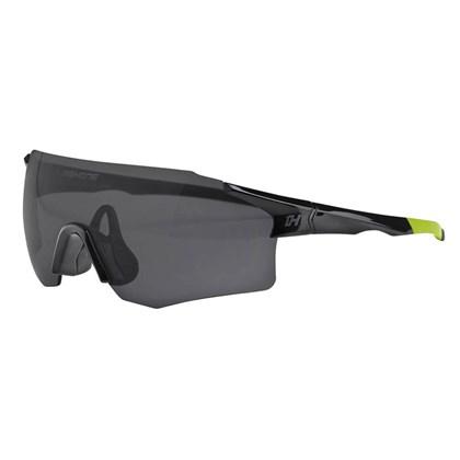 Óculos Ciclismo High One Flux Preto e Amarelo com Lentes Fume e Transparente