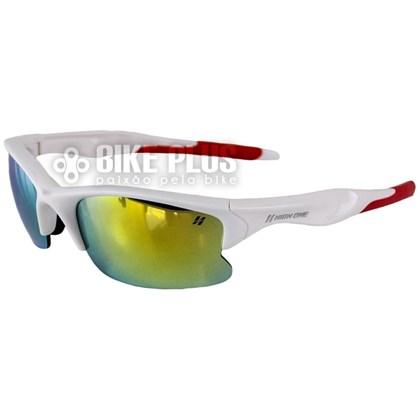a3e68f2b0325e Óculos Ciclismo High One Iron Branco e Vermelho com 3 Lentes - Bike Plus