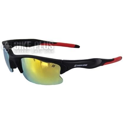 434c8322d905b Óculos Ciclismo High One Iron Preto e Vermelho com 3 Lentes - Bike Plus