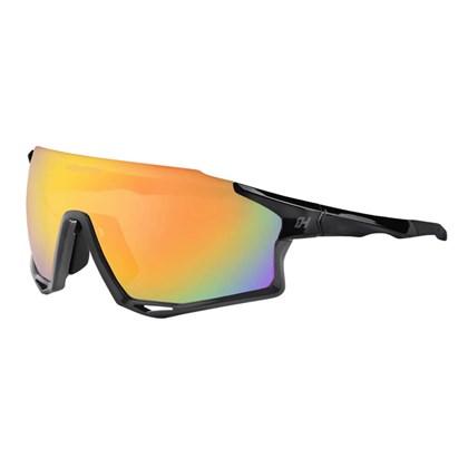 Óculos Ciclismo High One Mark Preto e Cinza com Lentes Espelhada Fume e Transparente