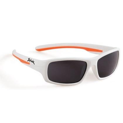 Óculos Ciclismo Infantil Spiuk Bungy Lente Fume Armação Branco e Laranja