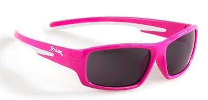 Óculos Ciclismo Infantil Spiuk Bungy Lente Fume Armação Rosa e Branco