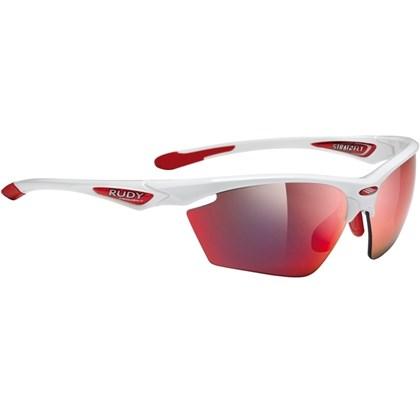 760f7602996f2 Óculos Ciclismo Rudy Project Stratoflay Branco Vermelho - Bike Plus