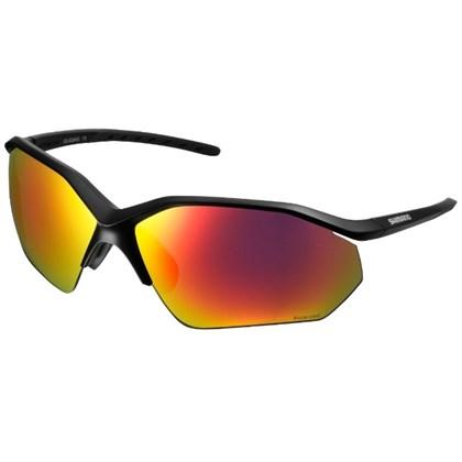 Óculos Ciclismo Shimano CE-EQNX3-PL Preto com Lente Espelhada