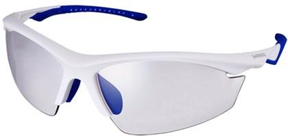 Óculos Ciclismo Shimano CE-EQX2-PH Branco Fosco Azul