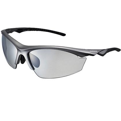 Óculos Ciclismo Shimano CE-EQX2-PH Cinza Metálico e Preto