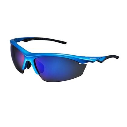 Óculos Ciclismo Shimano CE-EQX2-PL Azul Metálico