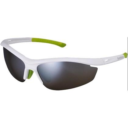 Óculos Ciclismo Shimano CE-S20R Branco Verde - Bike Plus 20feb6df99