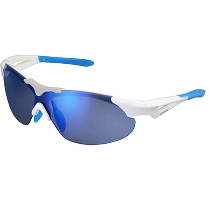Óculos Ciclismo Shimano CE-S40RS Branco e Azul Claro