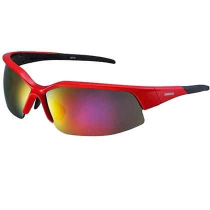 Óculos Ciclismo Shimano CE-S51R Vermelho com Lente Espelhada