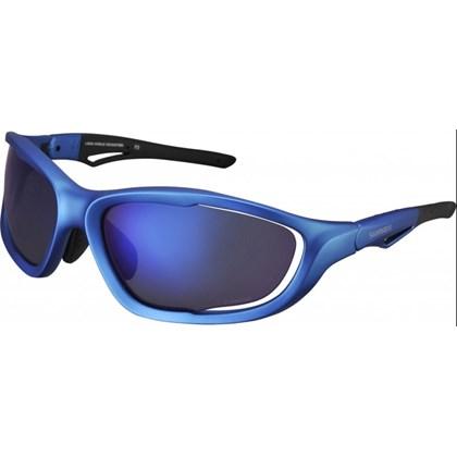 Óculos Ciclismo Shimano CE-S60X-PL Azul Metálico Fosco
