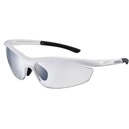 Óculos Ciclismo Shimano S20R-PH Branco Metálico e Preto