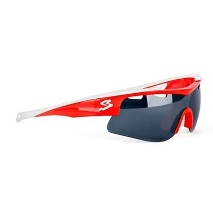 Óculos Ciclismo Spiuk Arqus Lente Humo Flash Vermelho Branco