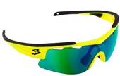 Óculos Ciclismo Spiuk Arqus Lente Verde Espelhada Armação Amarelo Neon e Preto