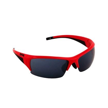 Óculos Ciclismo Spiuk Binomio Lente Fumê Armação Vermelha e Preta