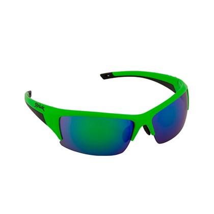 Óculos Ciclismo Spiuk Binomio Lente Verde Espelhada Armação Verde Fluor e Preto