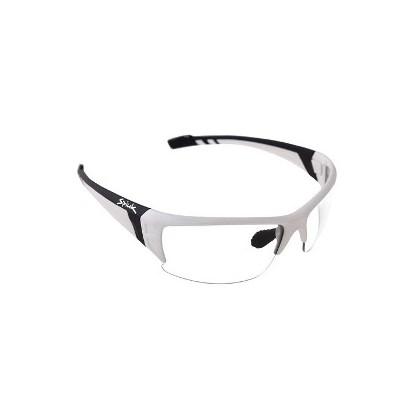 Óculos Ciclismo Spiuk Binomio Lumiris II Fotocromatico Armação Branca e Preta