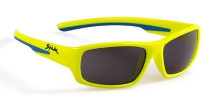 Óculos Ciclismo Spiuk Bungy Lente Fume Armação Amaralo Neon e Azul