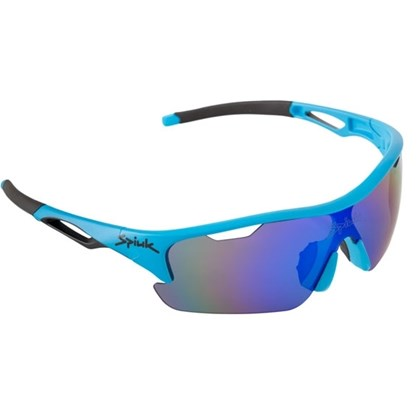 Óculos Ciclismo Spiuk Jifter Lente Azul Espelhada Armação Azul