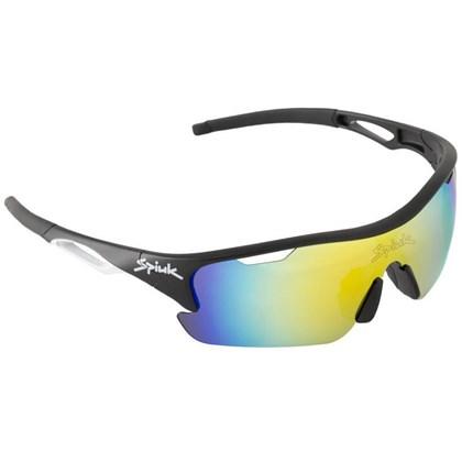 Óculos Ciclismo Spiuk Jifter Lente Laranja Espelhada Armação Preta e Branca