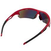 Óculos Ciclismo Spiuk Jifter Lente Laranja Espelhada Armação Vermelha e Preta