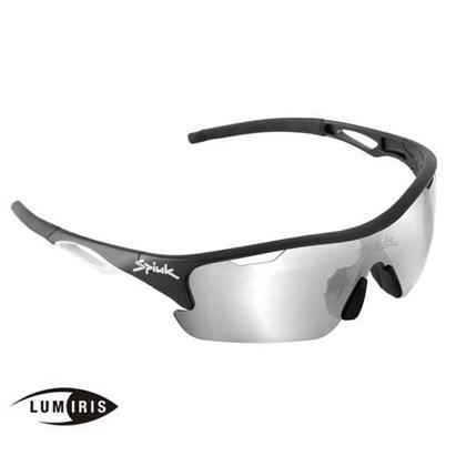 Óculos Ciclismo Spiuk Jifter Lumiris II Lente Fotocromática Armação Preta e Branca