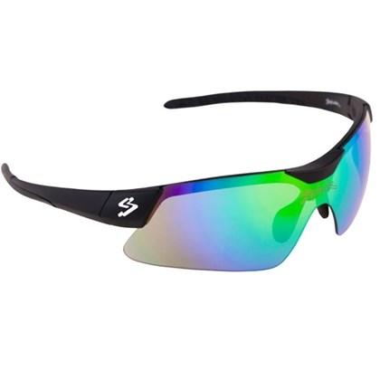 Óculos Ciclismo Spiuk Mamba Lente Verde Espelhada Armação Preta