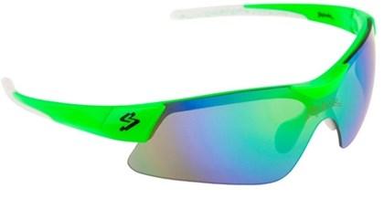 Óculos Ciclismo Spiuk Mamba Lente Verde Espelhado Armação Verde e Branco