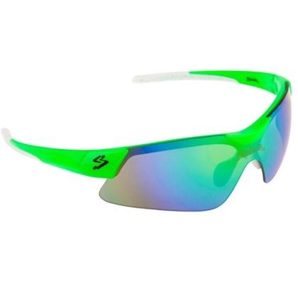 Óculos Ciclismo Spiuk Mamba Lente Verde Espelhado Armação Verde e Branco 73395f6a09