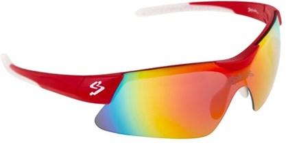 Óculos Ciclismo Spiuk Mamba Lente Vermelho Espelhado Armação Vermelho e Branco