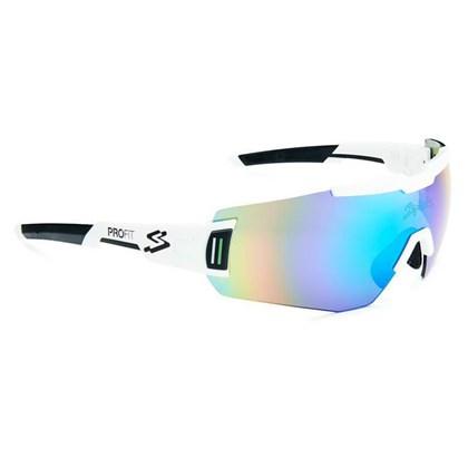 Óculos Ciclismo Spiuk Profit Lente Verde Espelhada Armação Branca