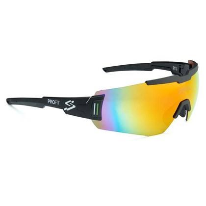 Óculos Ciclismo Spiuk Profit Lente Vermelha Espelhada Armação Preta
