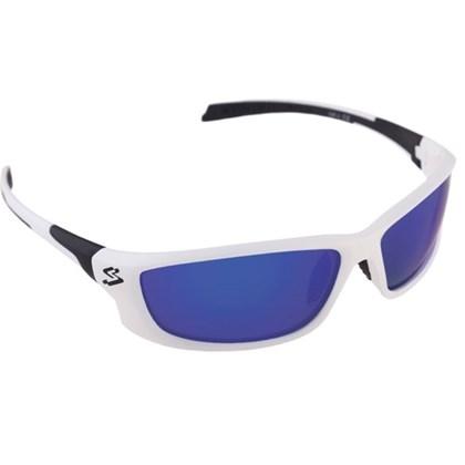 Óculos Ciclismo Spiuk Spicy Lente Azul Espelhado Armação Branco e Preto