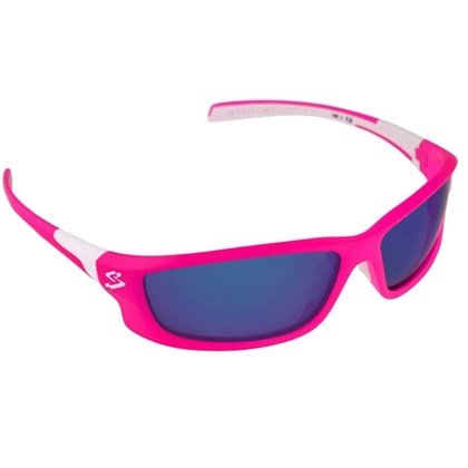 Óculos Ciclismo Spiuk Spicy Lente Azul Espelhado Armação Rosa e Branco