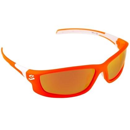 Óculos Ciclismo Spiuk Spicy Lente Vermelho Espelhado Armação Laranja e  Branco 962c5adcd7