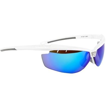 Óculos Ciclismo Spiuk Zelerix Lente Espelhada Azul Branco